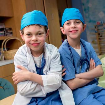 Children Dressed Up as Physicians