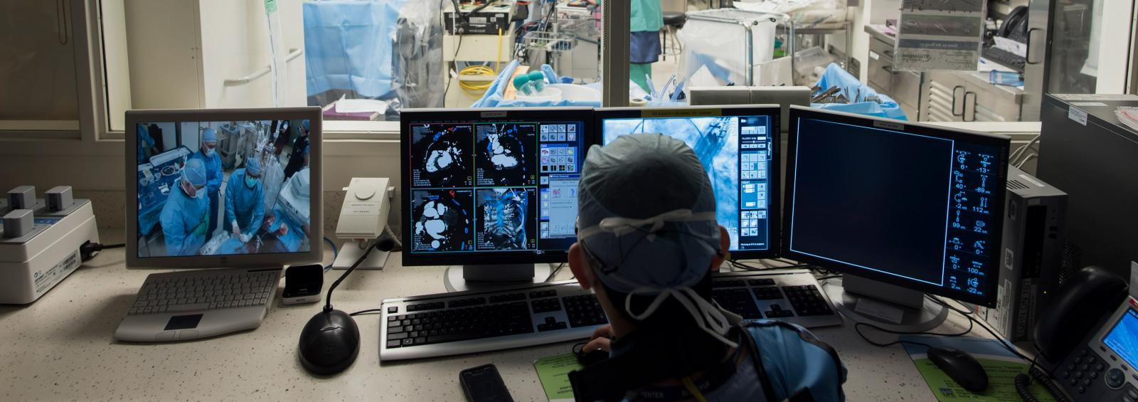Thoracic Surgeon Observes Operating Room