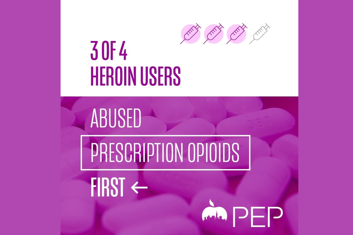 Heroin addiction often starts with prescription opioid misuse.