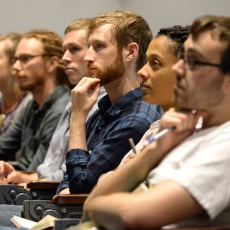 Attendees at a Neuroscience Institute Lecture