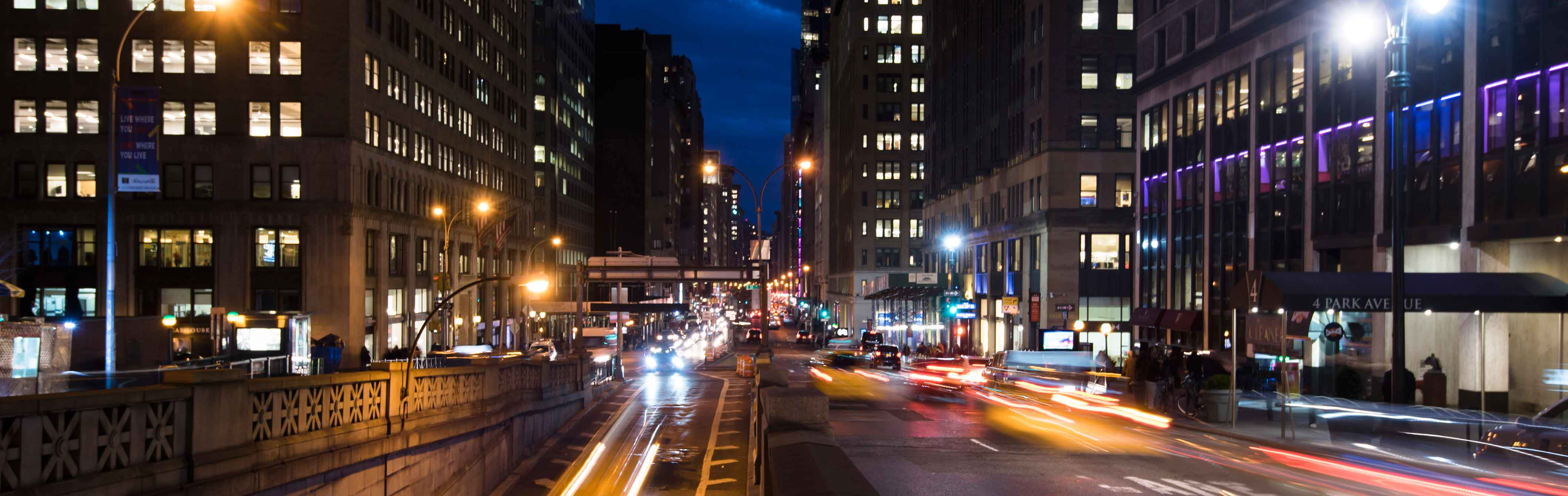 Night View of Park Avenue