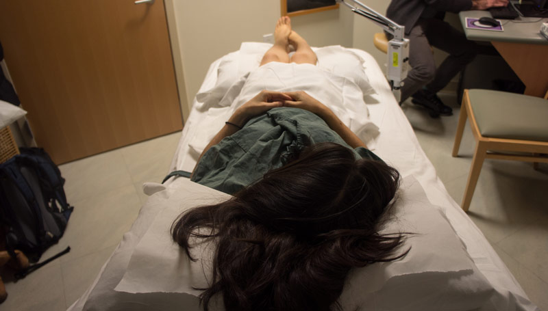 Patient Laying in a Hospital Bed