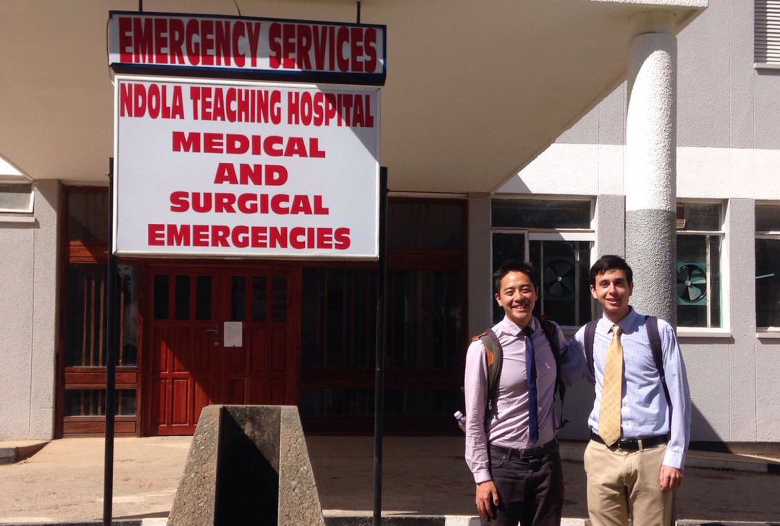 Medical Students David Wang and Darren Sultan