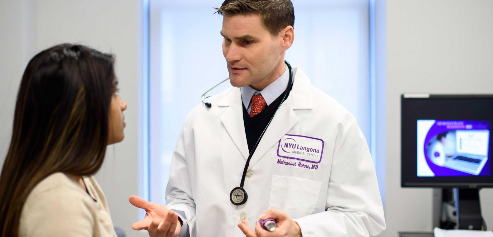 Allergy and Immunology Specialist Dr. Nathaniel Horne Speaks with Patient