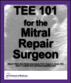 TEE 101 for the Mitral Repair Surgeon