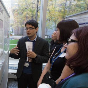 Students at Research Poster Session