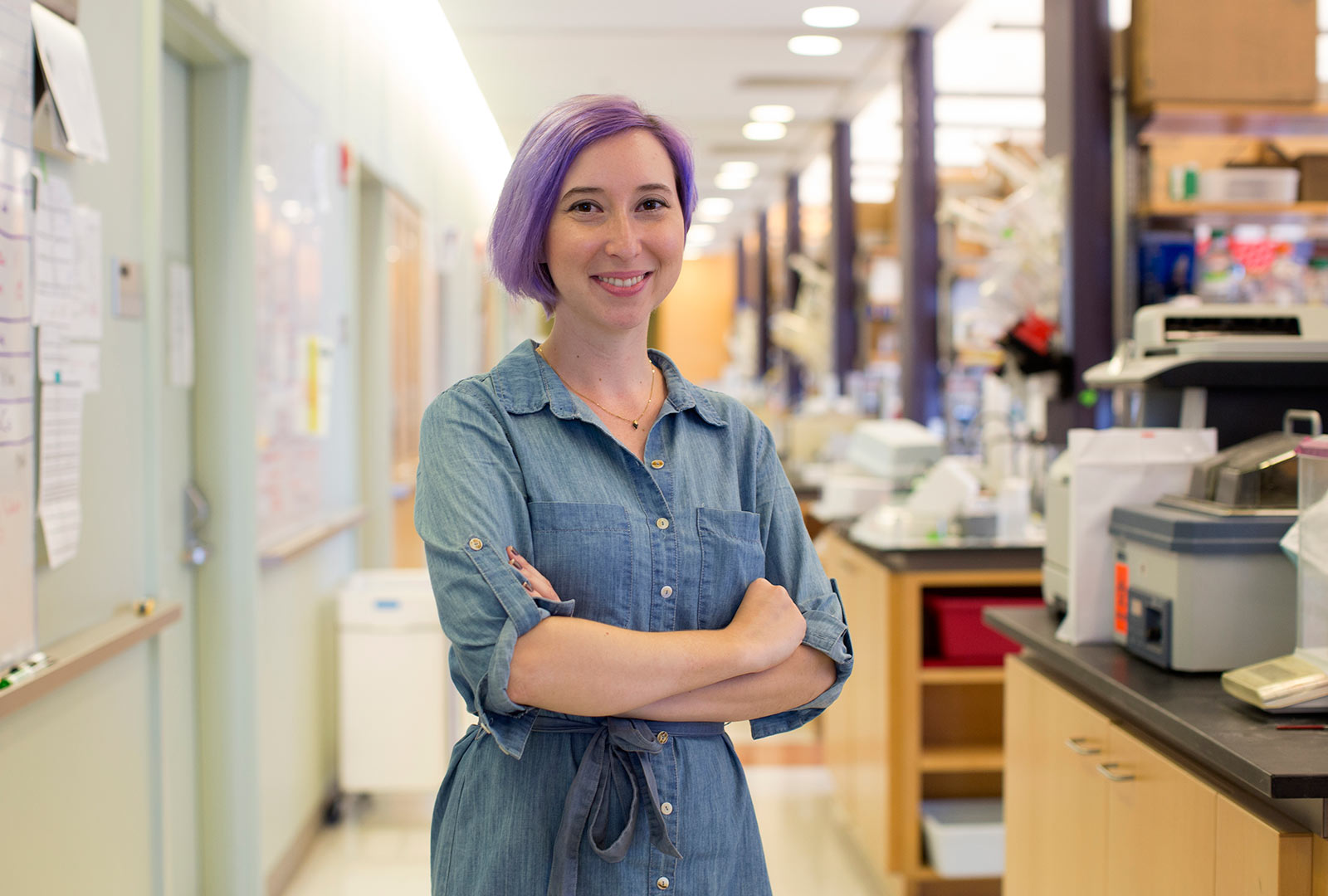 PhD Candidate Jessie Brown in Lab
