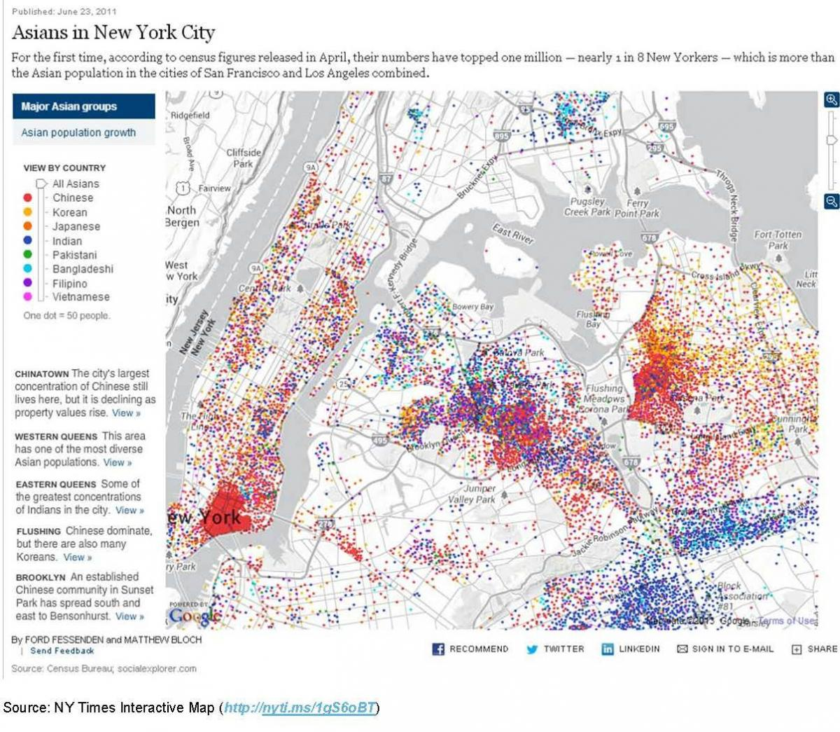 Interactive Map Of New York City.Asian Americans In The U S Nyu Center For The Study Of Asian