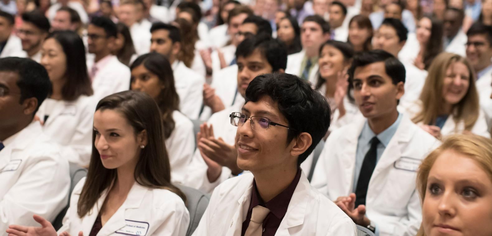 Participants At NYU School of Medicine White Coat Ceremony