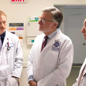 Dr. Steven Abramson on Rounds with Medical Students