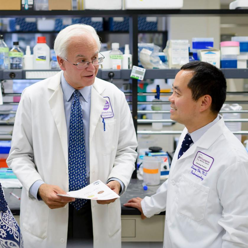 Study's Senior Author and Professor of Microbiology Doctor Martin J. Blaser, MD with Colleague